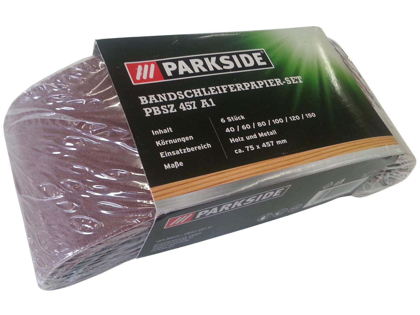 Parkside belt grinder set pbsz 457 a1 emery paper belt for Levigatrice parkside